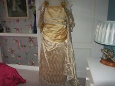 Queen Anne costume wedding dress in gold/silver fits 43 chest