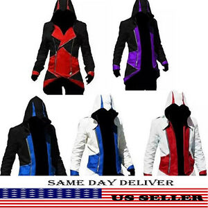 Stylish Creed Hoodie Men's Cosplay For Assassins Jacket Coat Costume