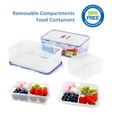 Meal Prep Containers Clear Divided Lunch Box for Sandwich Container for Adults