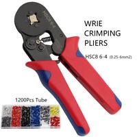 Crimping Tool Crimper Pliers Terminal 0.25-6mm² 1200Pcs Connectors Terminal Set