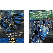 Batman Heroes & Villains DC Superhero Birthday Party Invitations Thank Yous
