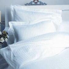 DOUBLE SIZE WHITE STRIPE DUVET SET+FITTED SHEET 1000 TC 100% EGYPTIAN COTTON