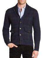 Polo Ralph Lauren Men Cashmere & Wool Tartan Plaids Preppy Knit Sweater Cardigan