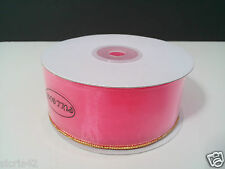 "1 1/2"" Organza Pull Bow Ribbon w/ Optional Gold / Silver Trim - 25 Yards"