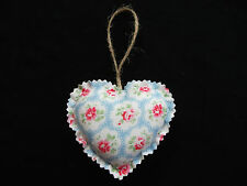 Shabby Chic Handmade Fabric Heart Door Hanger Made In Cath Kidston Blue Provence