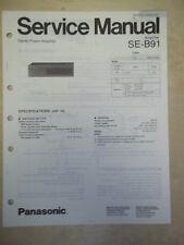 Technics Service/Repair Manual~SE-B91 Power Amplifier