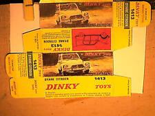 REPLIQUE BOITE CITROEN DYANE 1968 DINKY TOYS type1