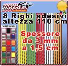 Adesivi moto - 8 righi adesivi per: ruote, profili, bordi. lunghezza 110 cm
