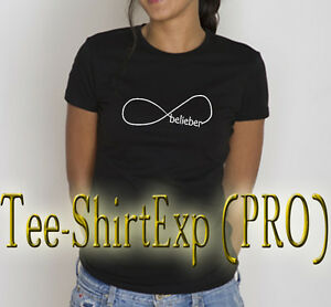 T-Shirt femme JUSTIN BIEBER -Tee shirt JUSTIN Bieber believe Cadeau  - XS au XL