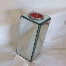 Tea Light holder Mirror Pillar Designer Style very modern bevel glass sides