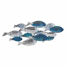 Danya B. School of Fish Modern Metal Wall Art Perfect for Coastal, Nautical, ...