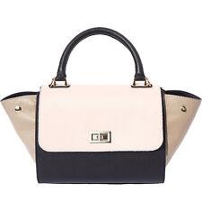 Borsa a mano Cuoio Pelle Leather Handbag Bag Italian Made In Italy 9132 bkpt