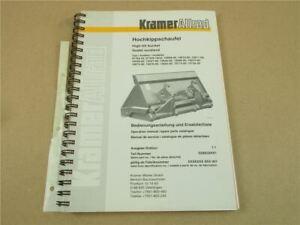 Kramer Allrad Hochkippschaufel Bedienungsanleitung Ersatzteilkatalog 6/2000