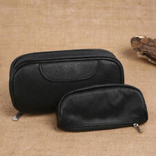Durable Portable Smoking Pipe Storage Case/Bag Holds For 2 Pipes+Tobacco Pouch