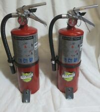 """New listing Two-New 2020 """"Buckeye"""" 5-Lb Abc Fire Extinguisher With Wall Hook W/Sign"""