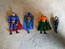 Justice League Unlimited Jlu Action Figure Lot, Superman/Aquaman/Hawkgirl +