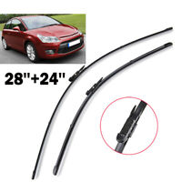 Front Windscreen Wiper Blades Fit For Citroen C4 2004 2005 2006 2007 2010 (PAIR)