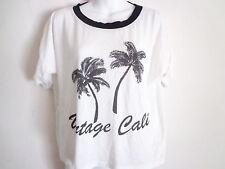Vintage Havana white t shirt vintage cali palm tree loose fit cropped size L