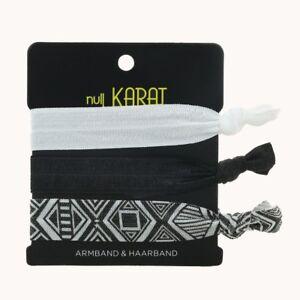 """Null Karat elastisches Armband/Haarband """"Geometrisch"""" Festival schmuckrausch"""