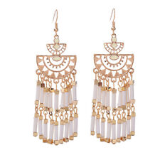 Fashion 1 Pair Elegant Women Crystal Rhinestone Ear Stud Fashion Earrings Chain