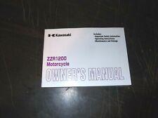 ORIGINAL KAWASAKI ZZR1200  MOTORCYCLE OWNERS MANUAL ZZ R 1200 2004