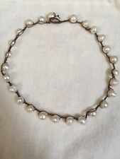 Beaded Necklace Handcrafted Crochet Pearl