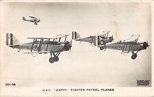 POSTCARD  AVIATION   RAF  WAPITI  Fighter  patrol  Planes