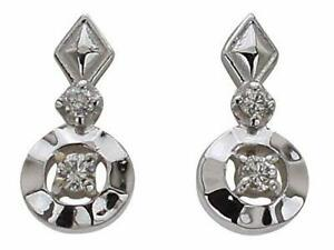 [Pinky and Diane] PINKY & DIANNE 10 white gold earrings diamond (OPRPD20246)