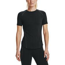 Under Armour женские Меридиан наполнить футболка, футболка, топ, черные спортивные для бега тренажерного зала