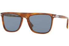 Authentic PERSOL PO3225S-96/56 Sunglasses Land of Sienna/Light Blue  *NEW* 56 mm