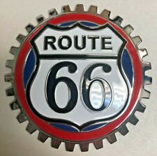 New Vintage Route 66 Car/Truck Grill Grille Badge- Chromed Brass- Great Gift!