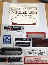 MGB GT DECALS LABELS ID PLATES Body set for 1972-1975 GT's
