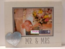 Mr & Mrs  Wedding Gift 5 x 7 Photo Frame with Heart Icon