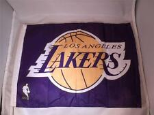"10 LA LAKERS Basketball Car-Flag MIP 12 1/2"" x 16"" w/flex support & window clip"