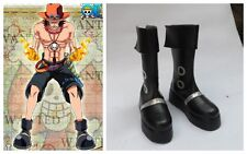 One Piece Portgas D Ace Cosplay Costume Boots Boot Shoes Shoe UK