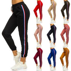 Trainingshose Joggerhose Hose Fitness Jogger Sport Slim Fit Damen BOLF Motiv
