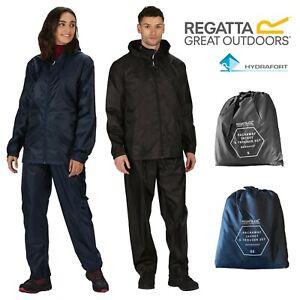 Regatta Unisex Packaway Waterproof Windproof Jacket + Trousers Set Mens Womens