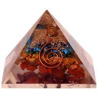 EX-LG 7 Chakra Multistone Orgonite Pyramid EMF Protection Healing Generator