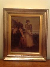 Victorian Framed Crystoleum 'The Love Letter' circa 1890 signed