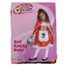 GIRLS LITTLE RED RIDING HOOD COSTUME KIDS WORLD BOOK DAY FANCY DRESS OUTFIT