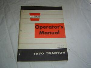 1973 White Oliver Cockshutt 1870 tractor operator's manual