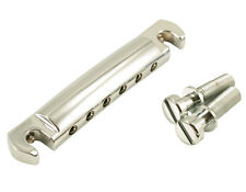 KLUSON Zinc WRAPAROUND STOP BAR Tailpiece fits Gibson USA CHROME KWRAP-C
