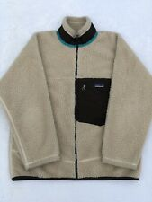 Mens PATAGONIA Retro X Oatmeal Full Zip Synchilla Sweater Jacket Medium