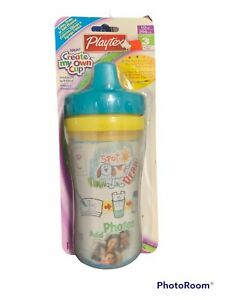 Vintage Playtex 10oz Sippy Cup New Create Your Own 12+ Months Spill Proof Draw
