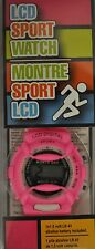 PINK LCD DIGITAL  SPORT WATCH NEW IN BOX BREAST CANCER AWARENESS