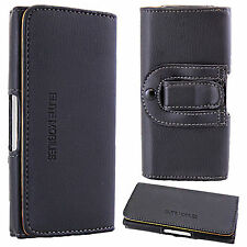Universal Leather Belt Pouch Loop Hip Holster Case Cover for Mobile Cell Phone LG Optimus L7 P700