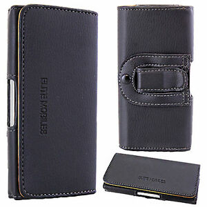 Universal Leather Belt Pouch Loop Hip Holster Case Cover for Mobile Cell Phone