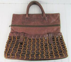 JAS MB London Large Brown Leather Satchel Handbag Vintage?