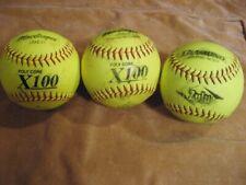 Three (3) Game-Used Slow Pitch Softballs - MacGregor & Diamond Good Free Ship