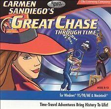 Carmen San Diego Great Chase Through Time PC Windows MAC Sealed New